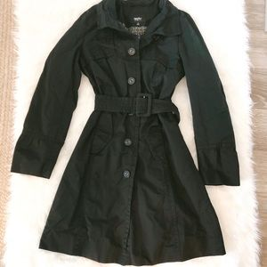 Mossimo Black water proof trench coat size medium